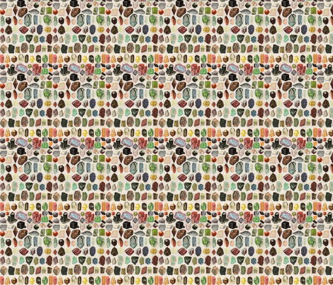 crystal collage fabric by ellechristine on Spoonflower - custom fabric