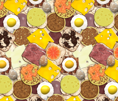 Got Breakfast? fabric by bonnie_phantasm on Spoonflower - custom fabric