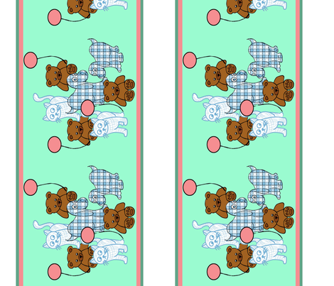 Baby toys wallpaper border fabric by dogdaze_ on Spoonflower - custom fabric