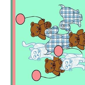 Baby toys wallpaper border