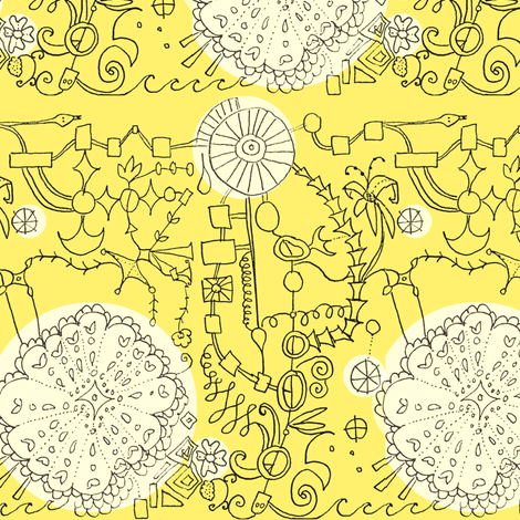 Doily Contraption fabric by boris_thumbkin on Spoonflower - custom fabric