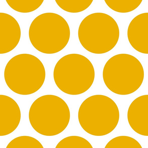 Jumbo Polka Dots - Yellow
