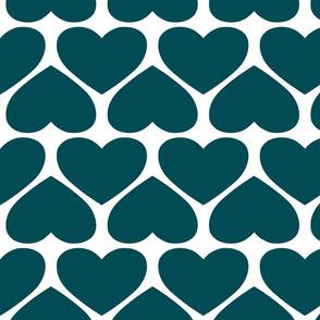 Jumbo Hearts - Teal