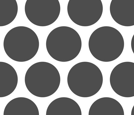 jumbo polka dots   grey fabric   fabricpaperglue   spoonflower
