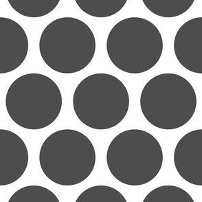 Jumbo Polka Dots - Grey