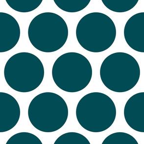 Jumbo Polka Dots - Teal