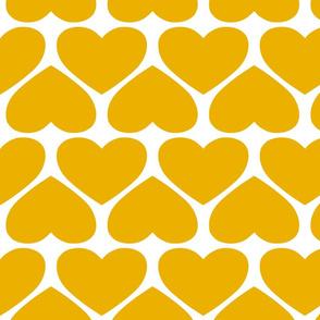 Jumbo Hearts - Yellow