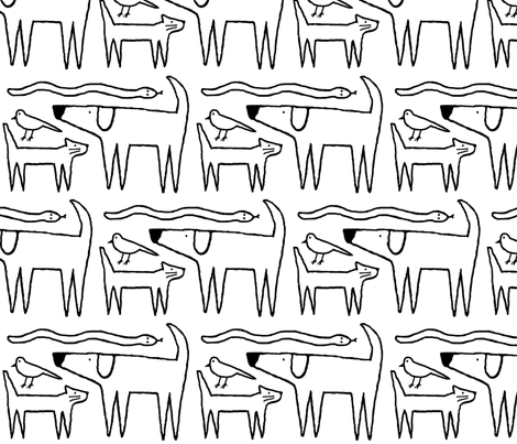 family pets fabric by melhales on Spoonflower - custom fabric