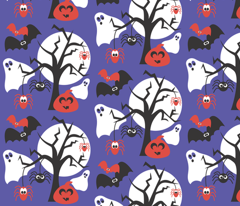 Silly Halloween fabric by bojudesigns on Spoonflower - custom fabric