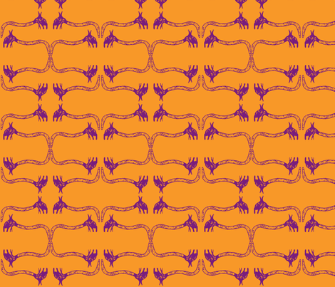 Creepy Crawlies No. 1 (Orange & Purple) - Lighter fabric by lisulle on Spoonflower - custom fabric