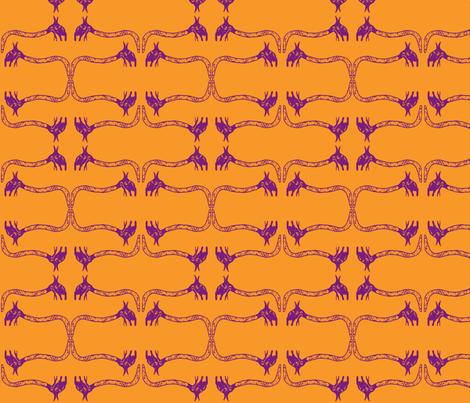 Creepy Crawlies No. 1 (Orange & Purple) - Lighter fabric by lisulle on Spoonflower - custom fabric