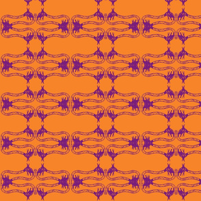 Creepy Crawlies No. 2 (Orange & Purple)