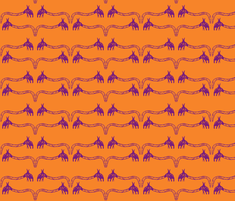 Creepy Crawlies No. 3 (Orange & Purple) fabric by lisulle on Spoonflower - custom fabric