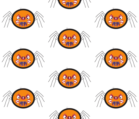 angry_spider fabric by rcmj on Spoonflower - custom fabric