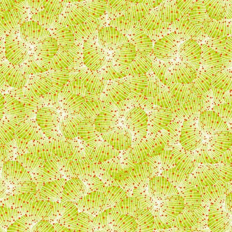 Kiwi petals fabric by sandeehjorth on Spoonflower - custom fabric