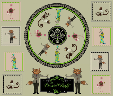 Aristocrat  Dessert Party fabric by paragonstudios on Spoonflower - custom fabric
