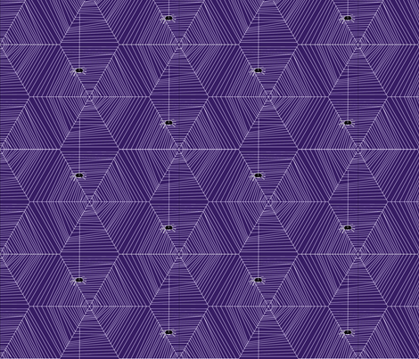 Creep Crawlies, purple fabric by wiccked on Spoonflower - custom fabric