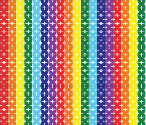 Rainbow arrows fabric by hmooreart on Spoonflower - custom fabric