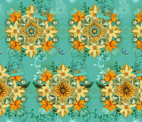 Fly Away Away fabric by milliondollardesign on Spoonflower - custom fabric