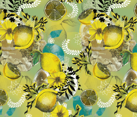When Life Gives You Lemons fabric by milliondollardesign on Spoonflower - custom fabric