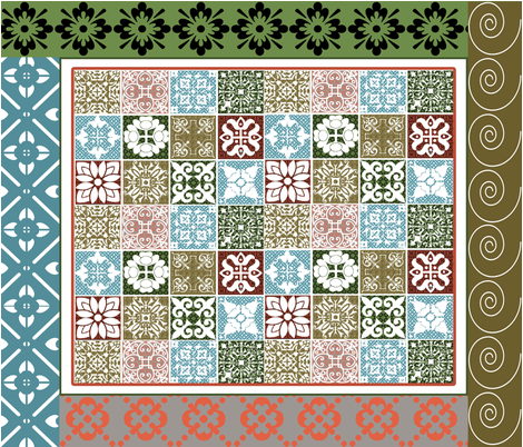 Tulsa Cheater Quilt #2  fabric by tulsa_gal on Spoonflower - custom fabric
