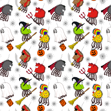 Spiders In Disguise fabric by holladaydesigns on Spoonflower - custom fabric