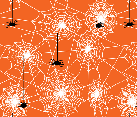 spiderwebby-01 fabric by hollyakkerman on Spoonflower - custom fabric