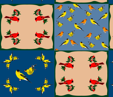 BirdHankie2013 fabric by nikky on Spoonflower - custom fabric