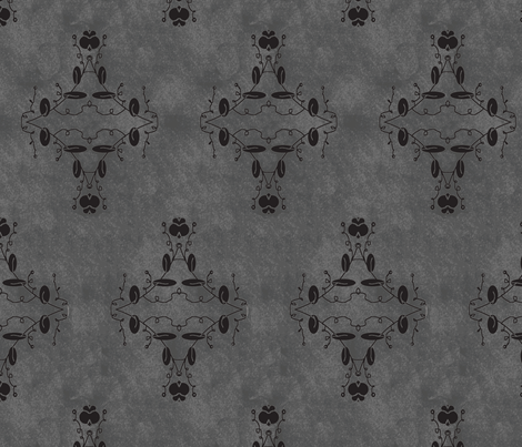 Gray and Black Grunge Damask fabric by captiveinflorida on Spoonflower - custom fabric