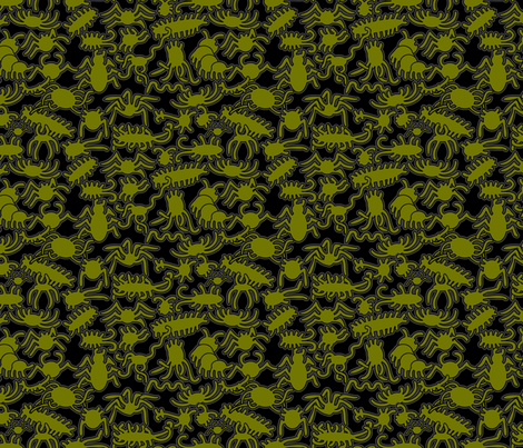 CreepyCrawlyFinal fabric by krisruff on Spoonflower - custom fabric