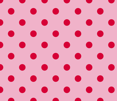 Polkas in sorbet fabric by domesticate on Spoonflower - custom fabric