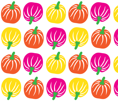 pumpkin fabric by lene_bomholt on Spoonflower - custom fabric