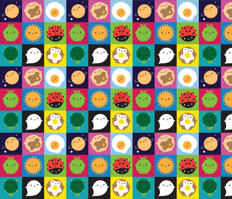 Look Around Squares fabric by marcelinesmith on Spoonflower - custom fabric