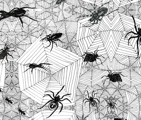 Creepy Crawlies fabric by linsart on Spoonflower - custom fabric