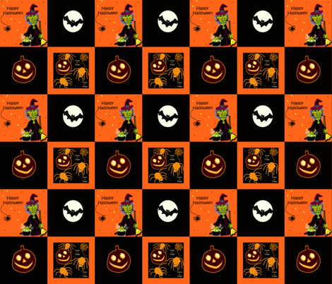 Halloween Patches fabric by arttreedesigns on Spoonflower - custom fabric