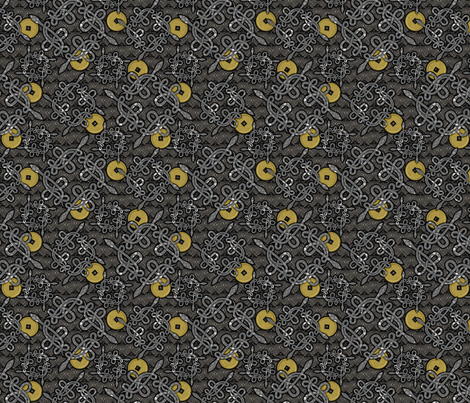 Snake Knots in Silver and Gold fabric by glimmericks on Spoonflower - custom fabric