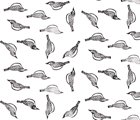 Black-Capped Vireo - Endangered Species fabric by owlandchickadee on Spoonflower - custom fabric