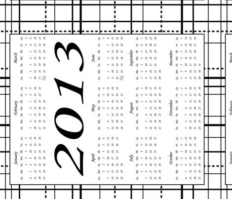 2013-Calendar-ed fabric by hmooreart on Spoonflower - custom fabric