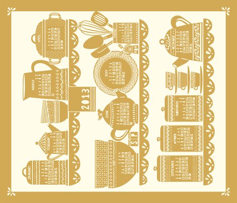 Home_MARIGOLD fabric by stacyiesthsu on Spoonflower - custom fabric