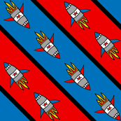 Rocket diagonal stripe hero fabric