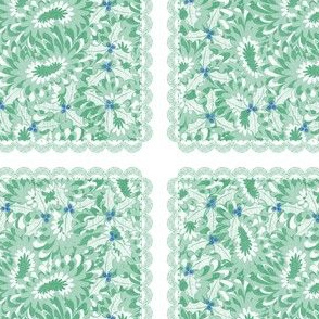 holiday cocktail napkins - paisley mums - mint