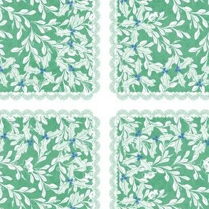 holiday cocktail napkins - leaves - mint