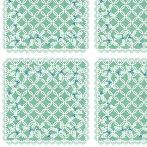 holiday cocktail napkins - chainmail - mint fabric by glimmericks on Spoonflower - custom fabric