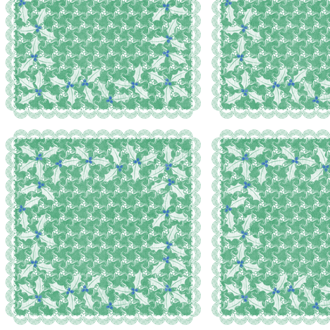 holiday cocktail napkins - sea spinners - mint fabric by glimmericks on Spoonflower - custom fabric