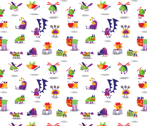 monsters fabric by azbeen on Spoonflower - custom fabric