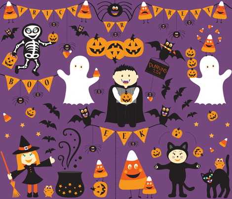 Creepy Crawly Halloween fabric by jenniferfranklin on Spoonflower - custom fabric