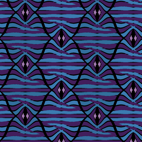 Encanto (Blue Magus) fabric by david_kent_collections on Spoonflower - custom fabric