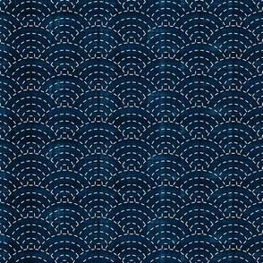 Sashiko: Seikaiha - Ocean waves