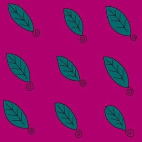 teal plum leaves