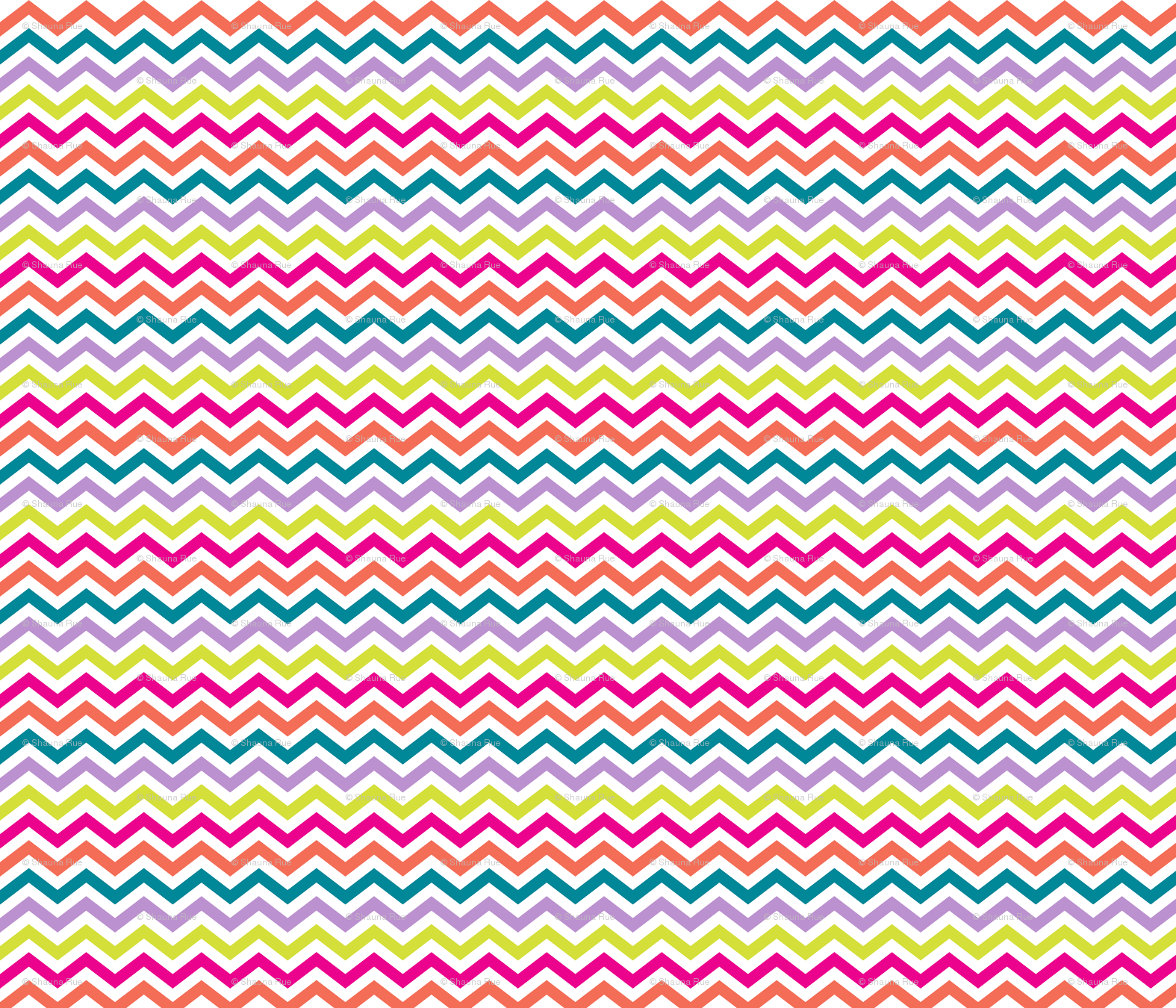 Rainbow chevron background